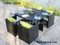 藤編桌椅---T-F1105 2