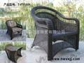 戶外藤編桌椅---T-F1101 4