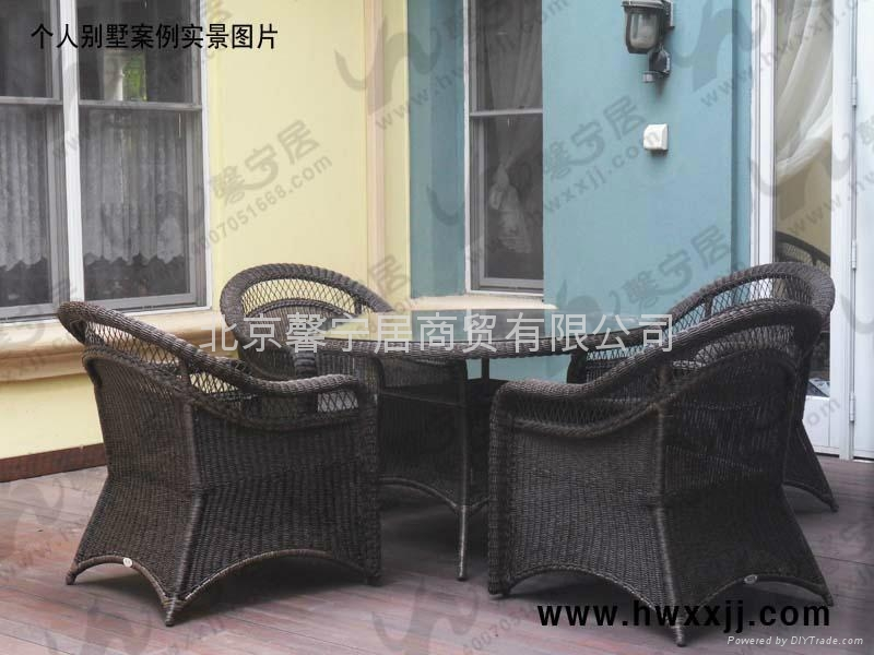 戶外藤編桌椅---T-F1101 5