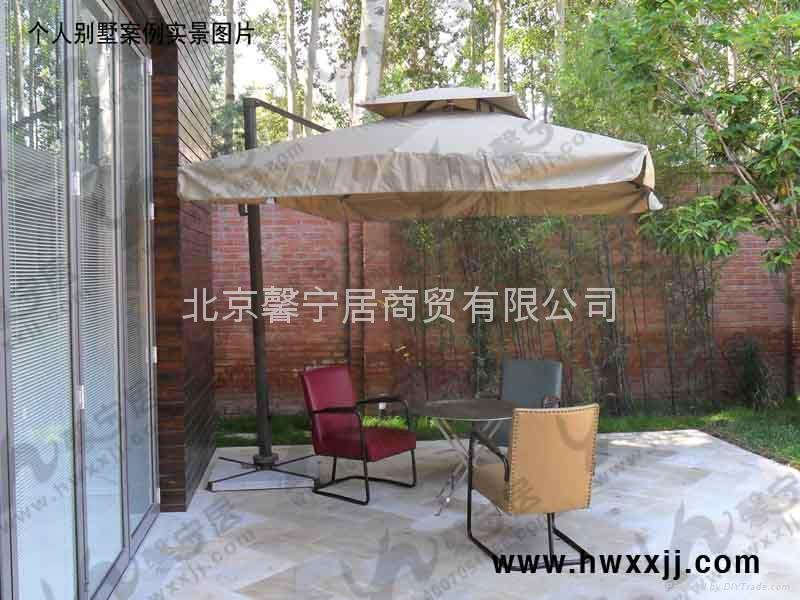 遮阳伞---双层方形360°旋转伞 4