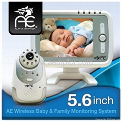 Baby Monitor System - 5.6 Inch LCD Screen Set - Wireless