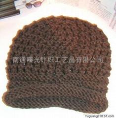 手工编织帽子围巾
