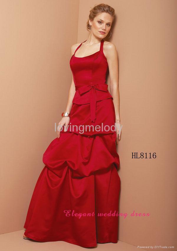 bridal gowns wedding dresses HL8116 bridesmaids gown 1