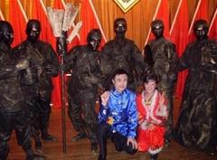 广州活铜人雕塑复古铜人活雕塑