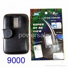 Blackberry Leather Case Screen Protector for  Storm 9000