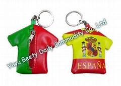 Coat Coin Bag & Keychain Flag Design