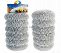 6PK Galvanized Mesh Scourer In Mesh Bag