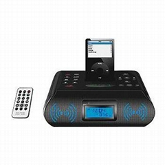 Ipod/mp3/4 Bluetooth speaker FM / AM radio alarm
