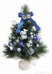 "12"" (30cm) Pre-decorated Mini Tree with Burlap Bag,w/40 tips."