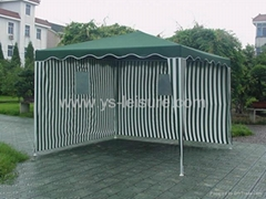 Metal Garden Gazebo,3*3m,Polyester Fabirc , w/Wave Eave,with 2 Side Walls