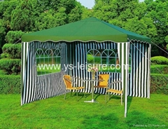 Folding Metal Canopy,3*3m,Polyester Fabirc w/PA coating, w/2 curtains