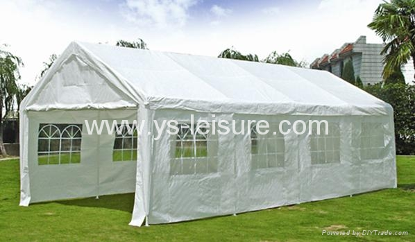 Portable Carport,4*8m,Polyester w/PA Coating,w/4 pcs of  Sidewall
