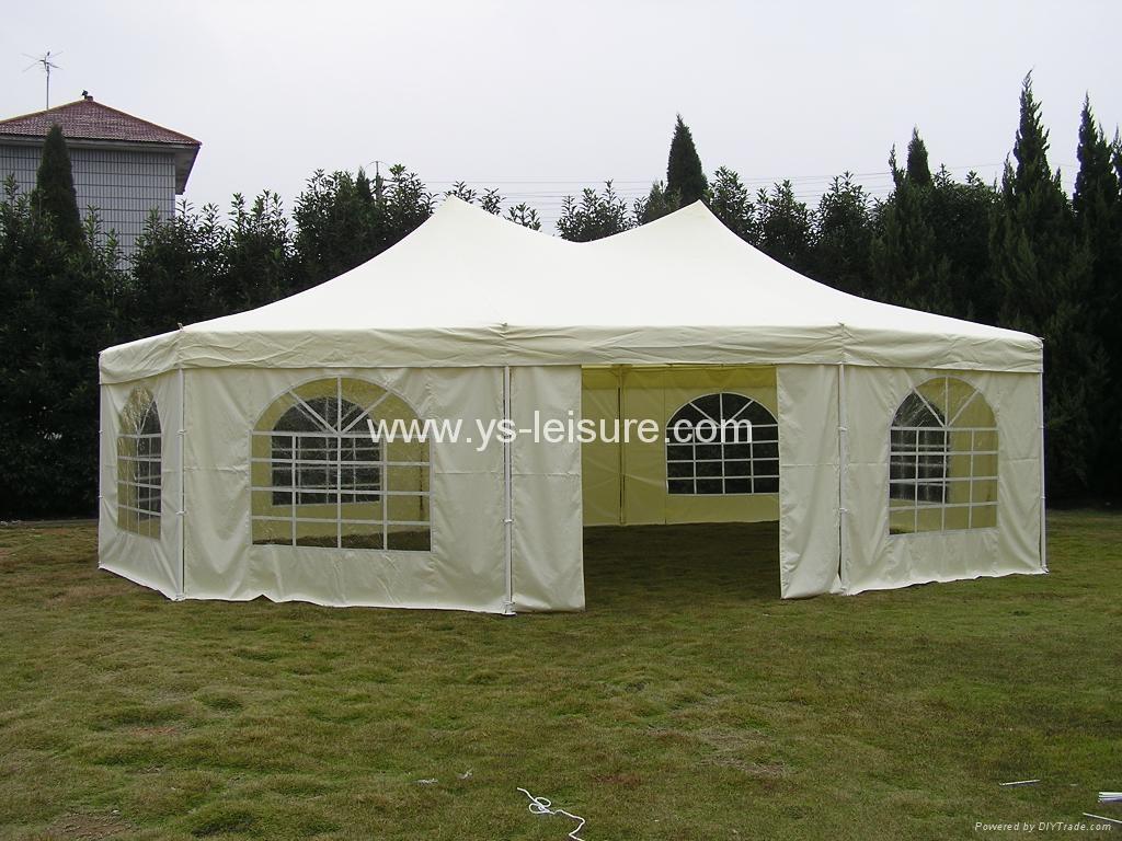 Octagonal Festival Big Tent w/Double Top6.8x5mPolyester w/PVC & Octagonal Festival Big Tent w/Double Top6.8x5mPolyester w/PVC ...