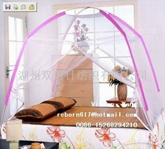 folded Mongolia mosquito nets/bedding