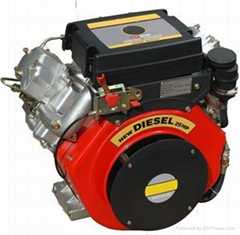 25hp air-cooled v-twin cylinder diesel engine