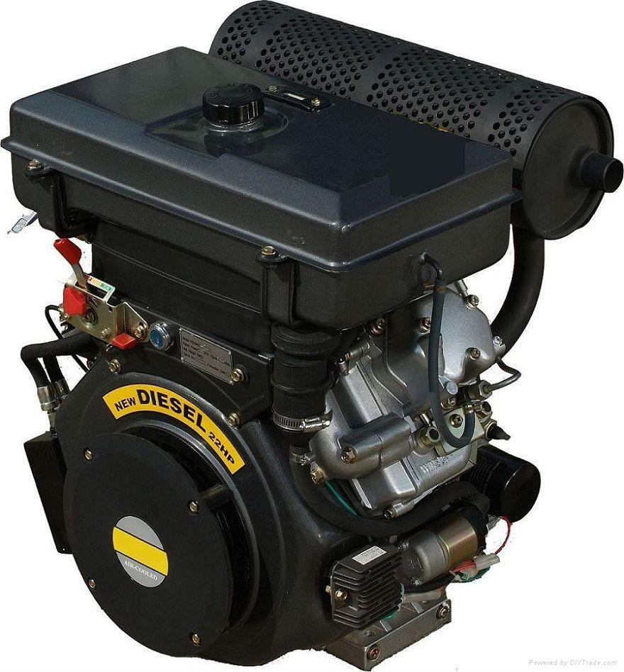 22hp v-twin cylinder air-cooled diesel engine 2