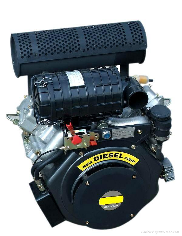 22hp v-twin cylinder air-cooled diesel engine 1