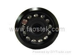 Night vision drill hole type reversing camera