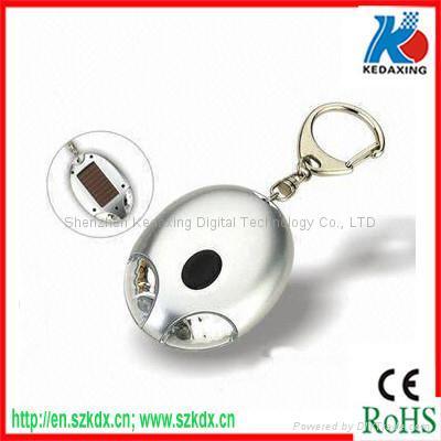 Solar keychain with LED flashlight  1