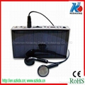 Solar mobile phone charger with radio and UV money-detector function 2