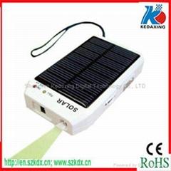 Solar charger with radio,5pcs LED , mini USB