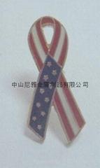 金属旗帜徽章