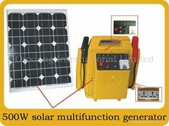 Portable solar generator system sp500w
