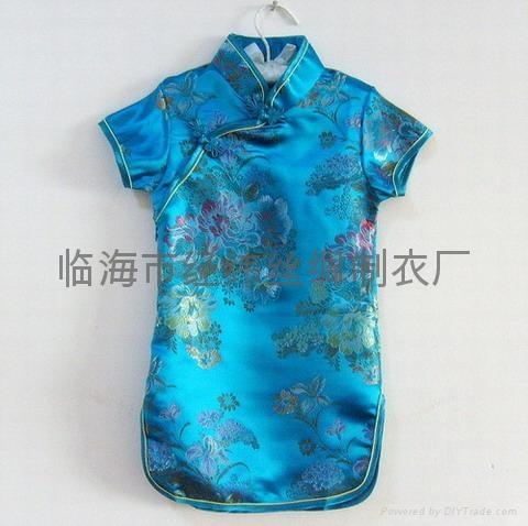 富贵牡丹公主儿童旗袍 2