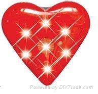 Flash Heart shape Badget