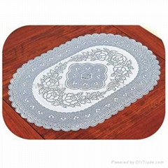 pvc lace table cloth