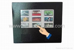 Touch screen LCD advertising display