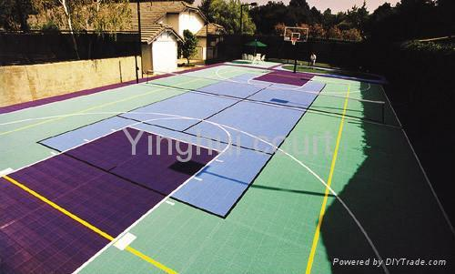 Backyard court surfaces o 01 yinghui china products for Diy sport court