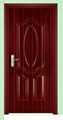steel door pvc laminated (interior door)