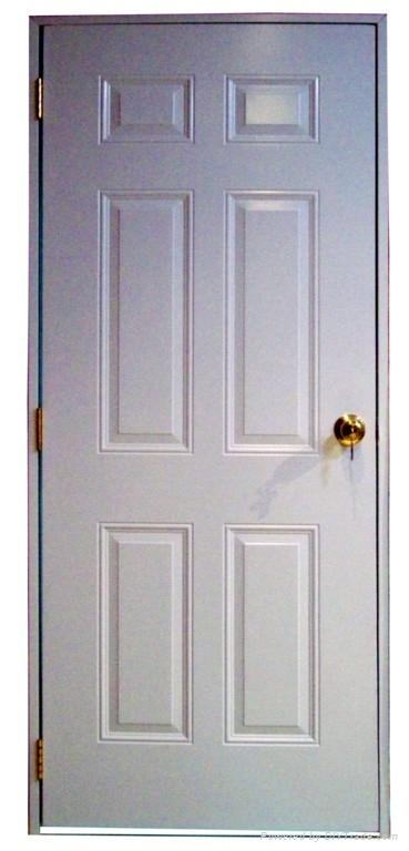6 panel steel door with wood edge (interior door &exterior door)