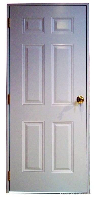 6 Panel Steel Door With Wood Edge Interior Door Amp Exterior