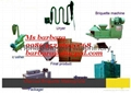 wood charcoal briquette production plant