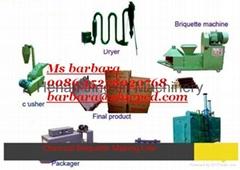 wood charcoal briquette production plant