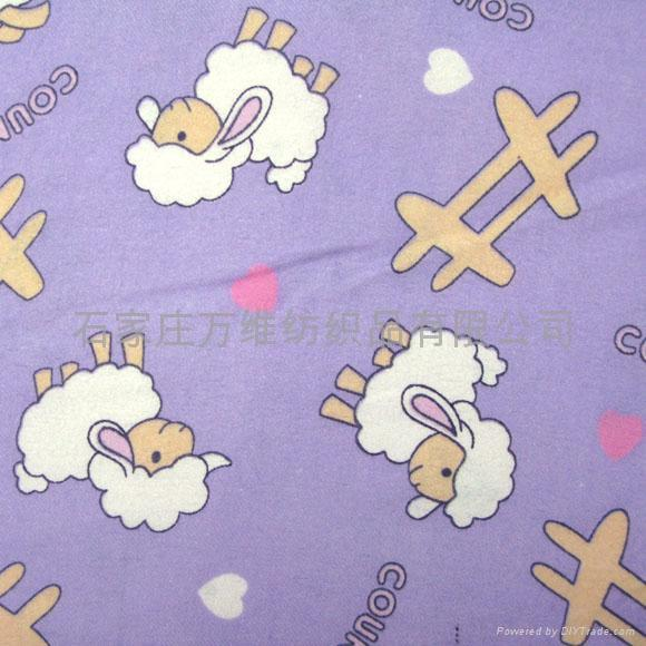 Cotton flannel fabric for kids pajama customer design for Kids cotton fabric