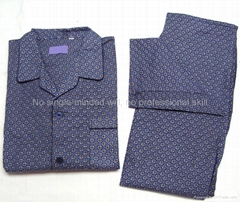 men cotton woven printed flannel pyjama set
