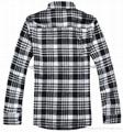 全棉色织法兰绒男士长袖休闲衬衫 2