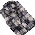 100% cotton yarn dyed flannel men's long