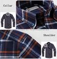 cvc 80/20 print flannel men's long sleeve soft collar business shirt 2