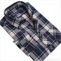 100% cotton print flannel mens shirts