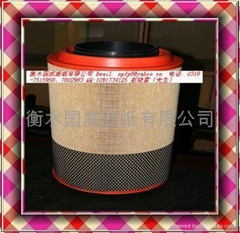 Compound air filter paper