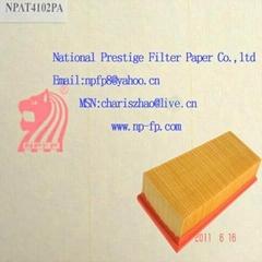 Resistant burning filter paper
