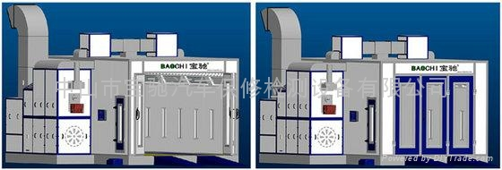 Baochi spray booth BC738S (water soluable type) 1