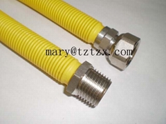 stainless steel corrugated flexible metal gas hose for gas cooker,gas boiler