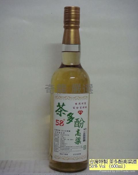 奇龍茗酒-茶多酚高粱 58%Vol600CC平裝