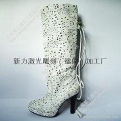 鞋面、鞋材、大底激光鐳射雕刻加