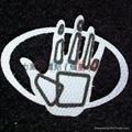 布標、皮標、服飾輔料激光鐳射雕刻加工 3
